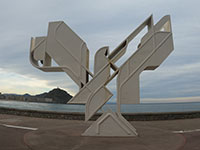 Escultura de Nestor Basterretxea Arzadun / Paloma de la paz